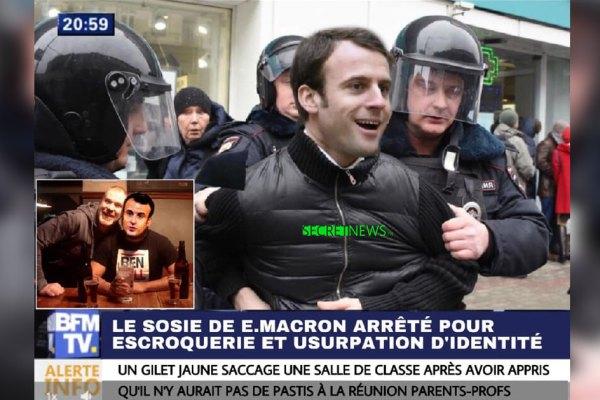 Le sosie d'Emmanuel Macron arrêté : il trompait les commerces et ne payait rien