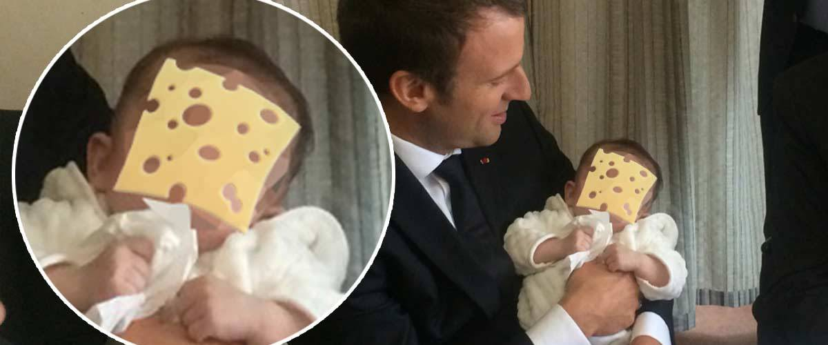 Macron a participé au Cheese Challenge lors d'une visite dans une crèche