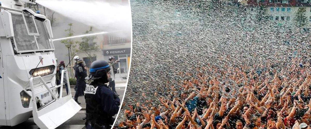 25 millions de gilets jaunes attendus samedi pour profiter du canon à eau de la police