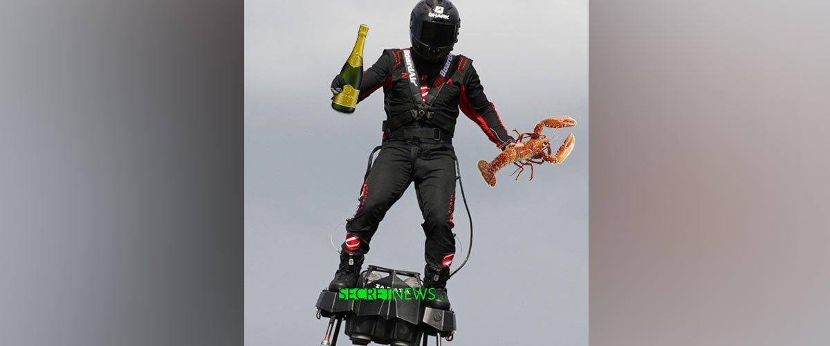 Le soldat en hoverboard livre du homard aux ministres en vacances