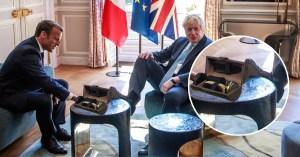 Brexit : Emmanuel Macron a symboliquement ciré les souliers de Boris Johnson