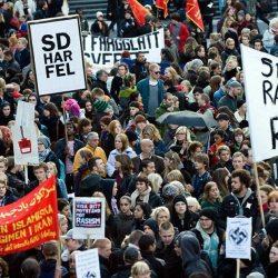 Manifestation à Stockholm contre l'expression raciste « Encore un Suédois »