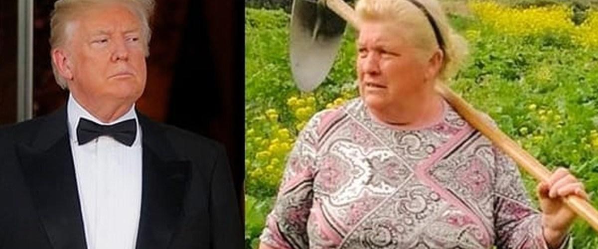 Donald Trump caché dans une ferme écossaise déguisé en femme pour fuir l'impeachment