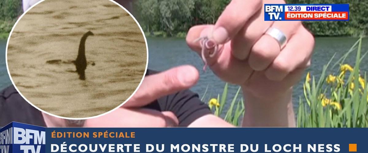 Découverte du monstre du Loch Ness en Écosse