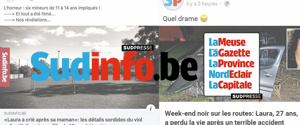 Moins de viols et d'accidents de la route en Belgique : SudPresse proche de la faillite