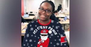 Sibeth Ndiaye marraine de la journée mondiale du pull moche de Noël