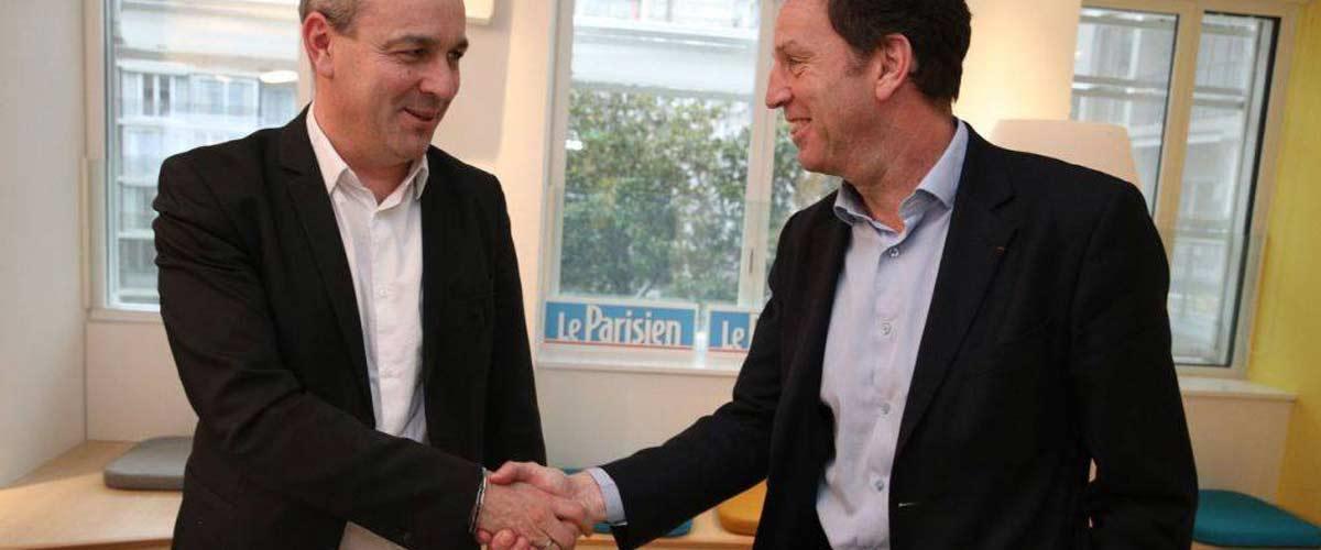 Geoffroy Roux de Bézieux et Laurent Berger annoncent la fusion du Medef et de la CFDT
