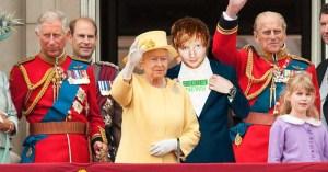 Ed Sheeran remplace Harry en tant que roux de secours de la famille royale britannique