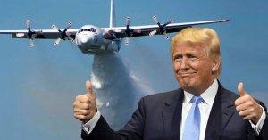 Donald Trump veut utiliser les Canadair pour larguer du désinfectant sur la population
