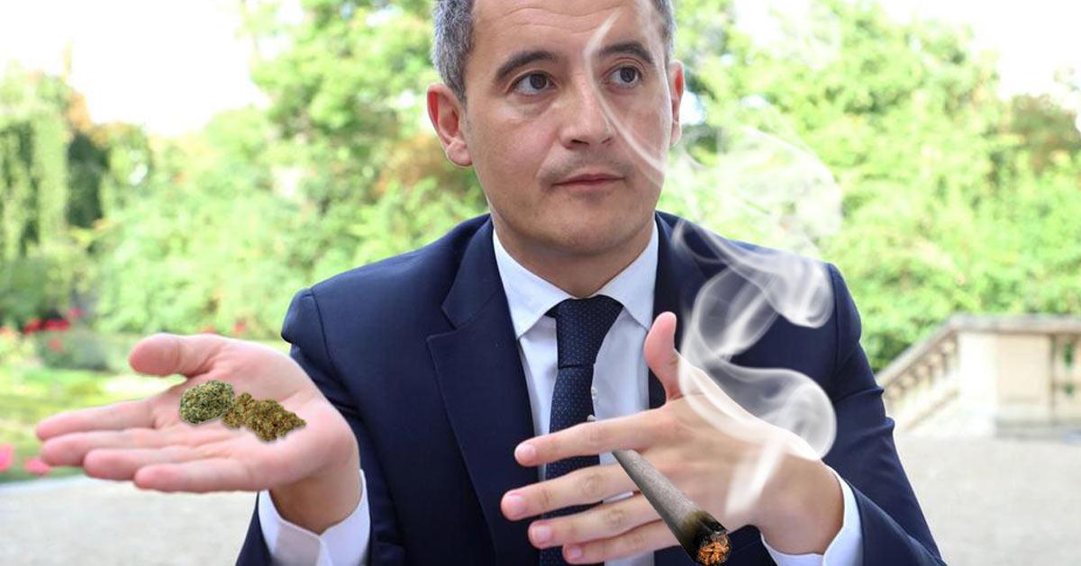 Gérald Darmanin fume du cannabis
