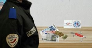 Opération conjointe du RAID et du GIGN : 6 gr. de cannabis, un canif et 35€ saisis