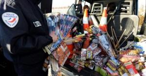 Importante saisie d'armes à Champigny : 60 feux d'artifice et 45 feux de Bengale découverts par la police