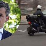 Gérald Darmanin aperçu en scooter devant le domicile de Marine Le Pen