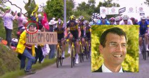 Tour de France : la femme à la pancarte serait Xavier D. de Ligonnès, selon la police écossaise