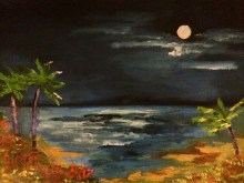 """9x12 Oil Painting. """"Cabo with Bunny & Bear"""" (Sold)"""