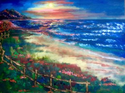 Secret of My SucCecil: Oil Painting while sitting on the beach at Point Reyes