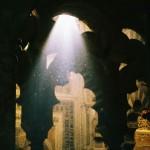 La luz caía vertical sobre la piedra