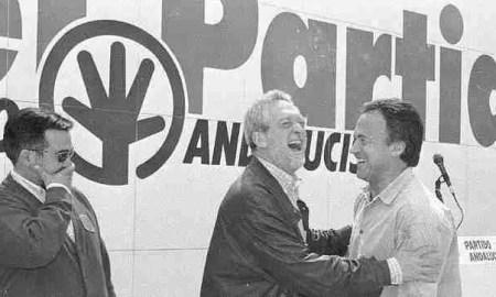 Rojas Marcos y Pedro Pacheco en un mitin del Partido Andalucista en los años 90