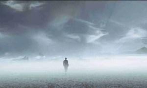 elphomega hombre en el hielo nebuloso