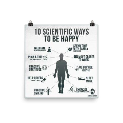 10 Scientific Ways To Be Happy Poster
