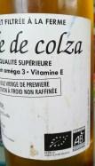 huile de colza bio et locale