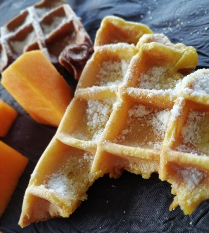 gaufres oranges et marron Halloween
