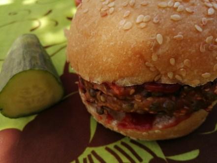 Burger avec galette de lentilles