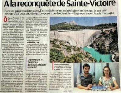 Les visites guidées de Secrets d'ici dans le journal La Provence.