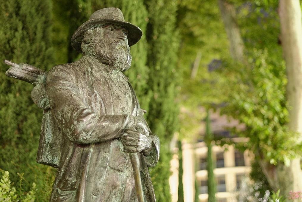 Statue de Cezanne à Aix-en-provence
