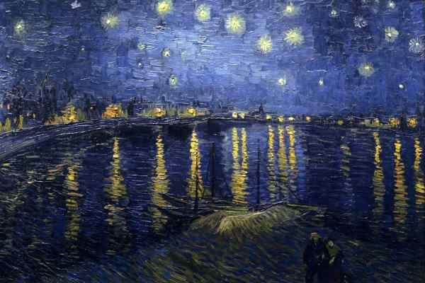 Nuit étoilée sur le Rhône en Arles, Van Gogh