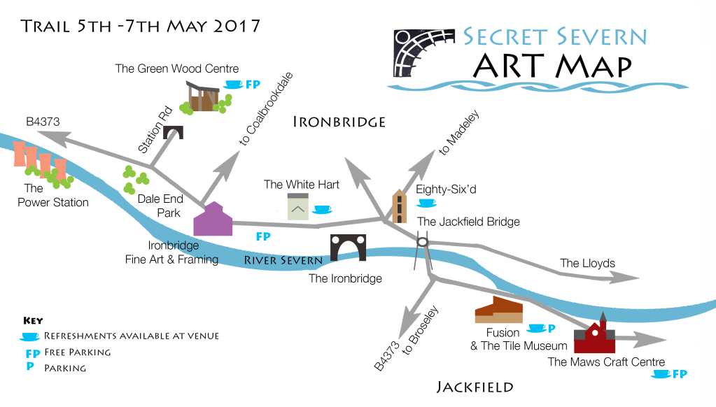 Map of the Secret Severn Art Trail May 2017