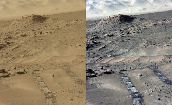 Mars Sol 631: Rover leaves pyramid area 2014 ...