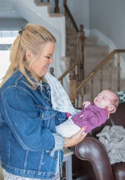 Kristin with baby Keiran