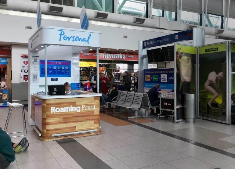 Buy sim card Argentina Ezeiza Airport