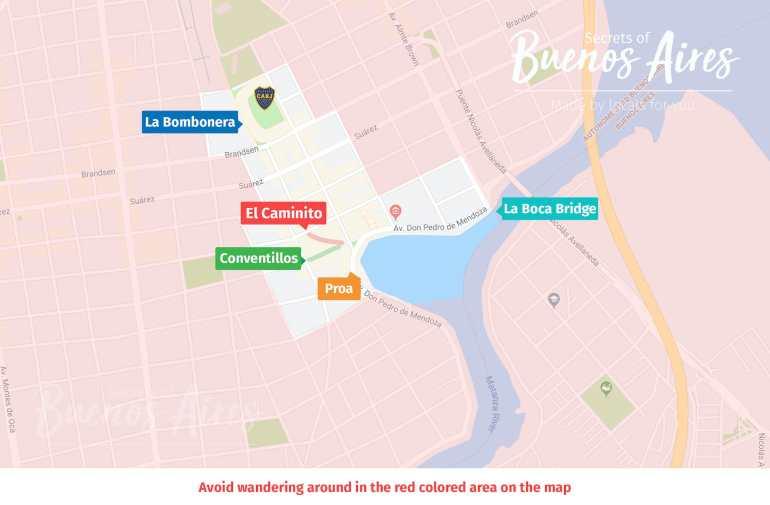 La Boca Buenos Aires Safety Safe Map