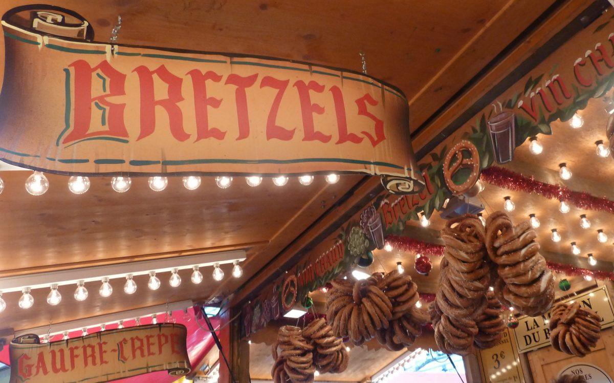 Alsatian Christmas Market pretzels