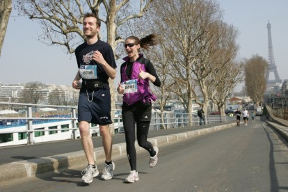 Heather and Bryan Running in Paris