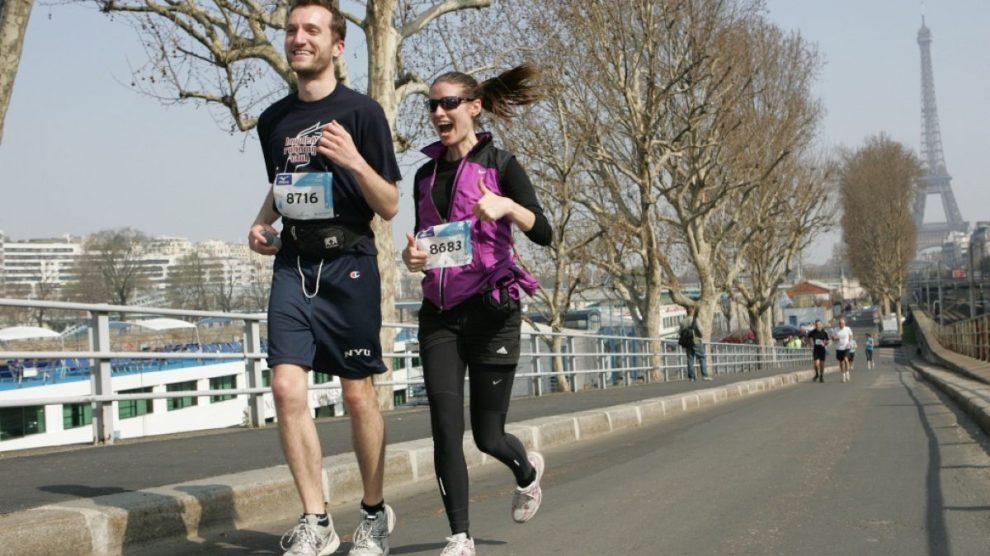 Heather and Bryan Running in Paris