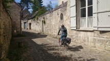 Biking in French village
