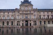 Louvre rain