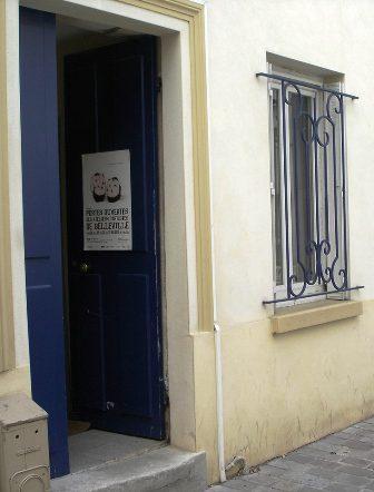 Doorway to open atelier