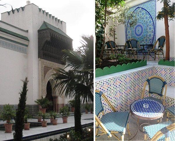 Paris mosque patio