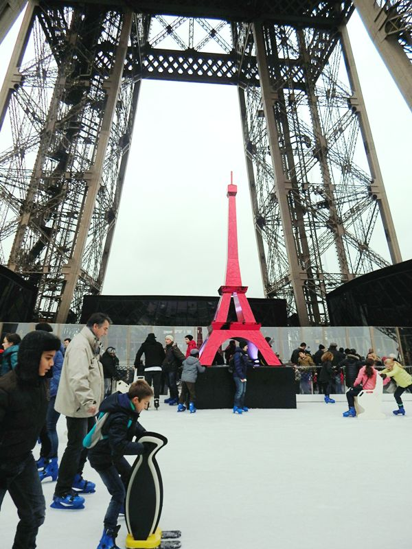 Ice rink on the Eiffel Tower