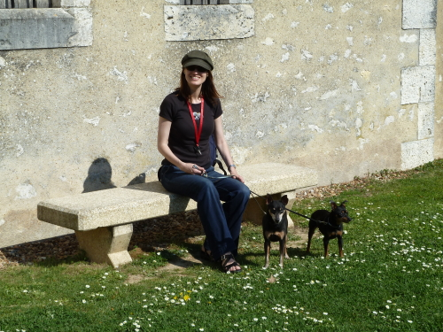 Heather with dogs in Loire Valley