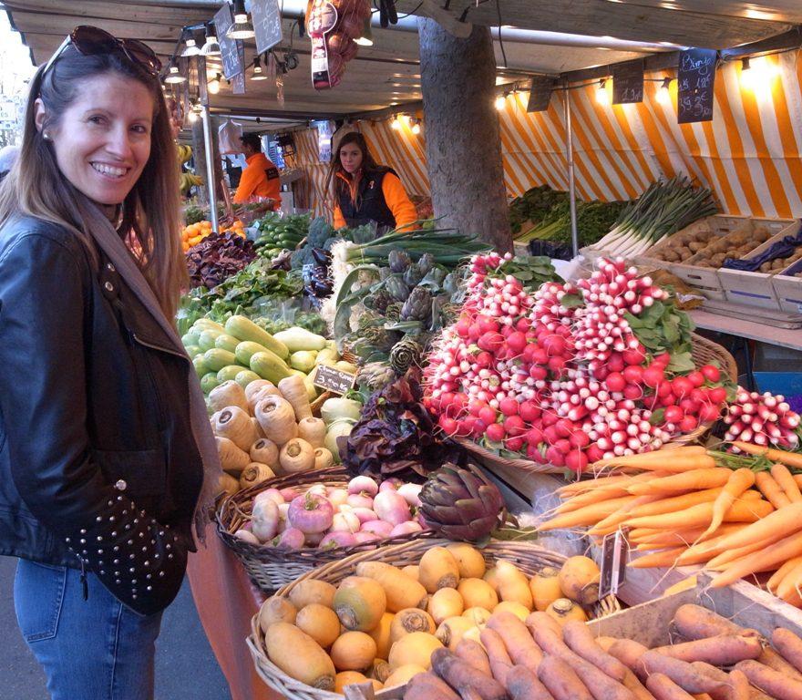 Heather at market