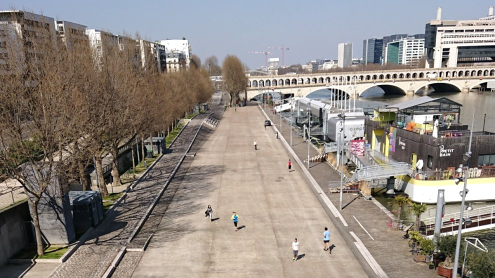Runners on Quay in Bercy