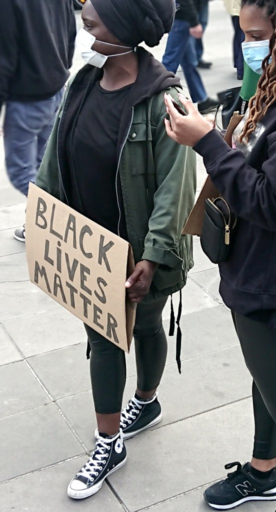 Black Lives Matter protesters in Paris