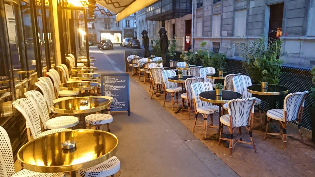 sidewalk café terrace