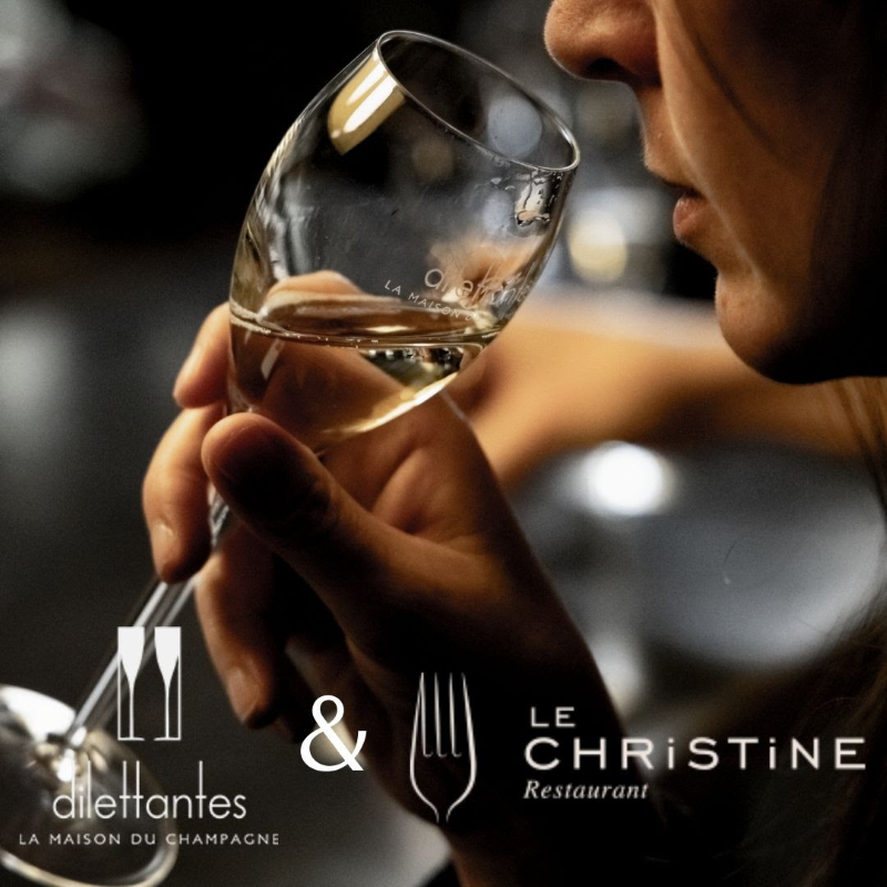 Dilettantes Champagne event flyer