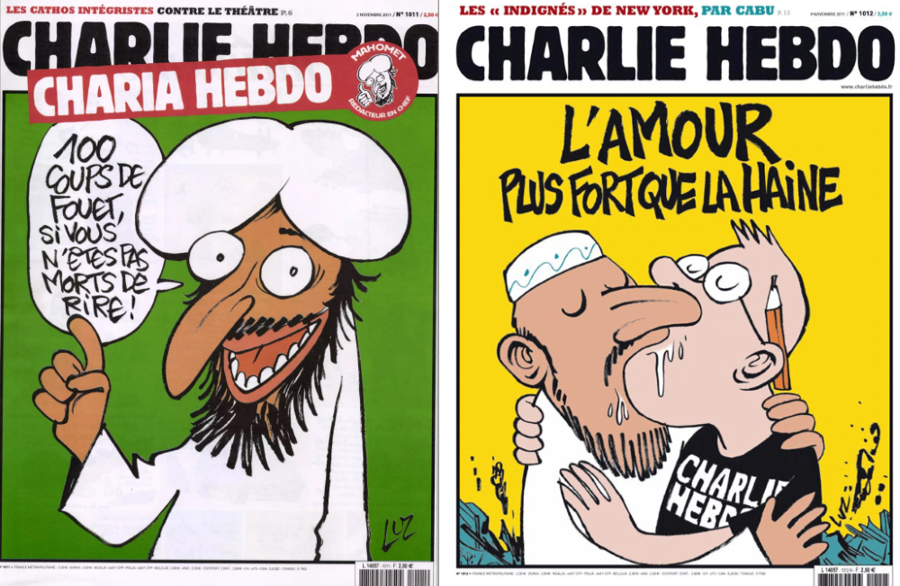 Two Charlie Hebdo covers